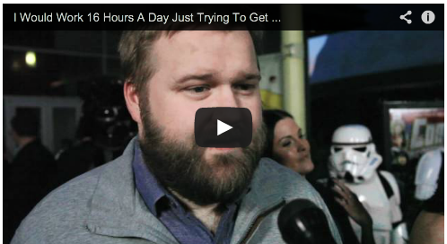 I Would Work 16 Hours A Day Just Trying To Get My Name Out There by Robert Kirkman Spurlock Comic Con Fan's Hope Film Courage