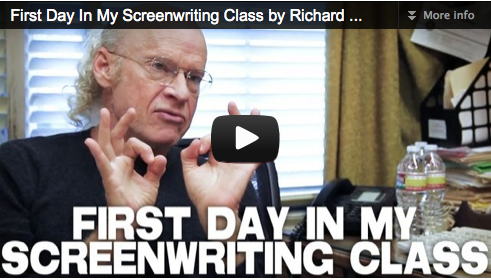 'FIRST DAY IN MY SCREENWRITING CLASS' BY PROF. RICHARD WALTER UCLA_FILM_COURAGE