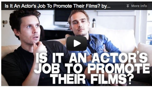 Is It An Actor's Job To Promote Their Films? by Kris Lemche & Joey Kern Film Courage