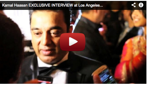 Kamal Haasan EXCLUSIVE INTERVIEW at Los Angeles VISHWAROOPAM Grand Premiere Bollywood Movie Film Courage