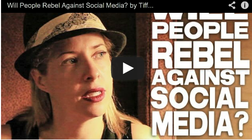 Will People Rebel Against Social Media? by Tiffany Shlain Connected The Film Ted Books Film Courage