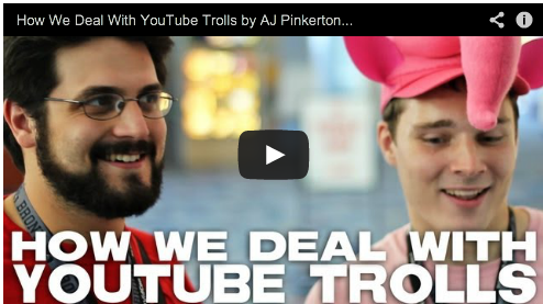 How We Deal With YouTube Trolls by AJ Pinkerton & Peter Srinivasan content creators film courage