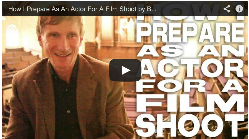 How I Prepare As An Actor For A Film Shoot by Bill Oberst Jr. Actor Auditioning Film Courage
