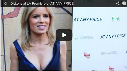 Kim Dickens at LA Premiere of AT ANY PRICE Film Courage Ramin Bahrani Zac Efron Red Carpet