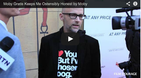 Moby Gratis Keeps Me Ostensibly Honest by Moby Music Performers Musicians Film Courage