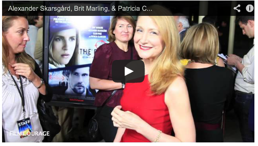 Alexander Skarsgård, Brit Marling, & Patricia Clarkson On Red Carpet Of THE EAST Film Courage