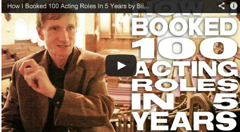 How I Booked 100 Acting Roles In 5 Years by Bill Oberst Jr. Take This Lollipop Film Courage Actor Casting Audition