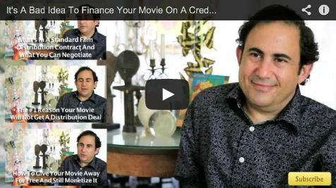 It's A Bad Idea To Finance Your Movie On A Credit Card by Jon Reiss PMD Think Outside the Box Office Film Courage