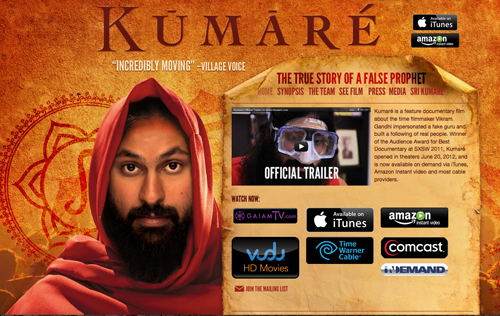 'KUMARÉ- THE TIME I BECAME A GURU' - BY FILMMAKER VIKRAM GANDHI Film Courage Idol Worship Documentary film 4