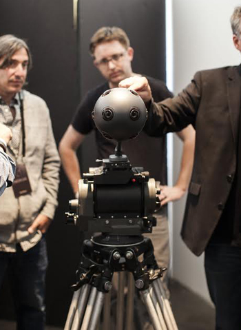 Los Angeles - July 28, 2015: Nokia unveils the new OZO virtual reality camera at an event held at the Hudson Loft in Downtown on Tuesday evening. Photo by Emily Berl