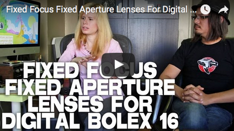 Fixed Focus Fixed Aperture Lenses For Digital Bolex D16 by Elle Schneider & Joe Rubinstein