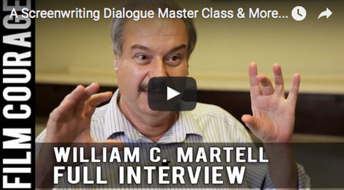 A_Screenwriting_Dialogue_Master_Class_More_Full_Interview_William_C_Martell_story_expo_author_script