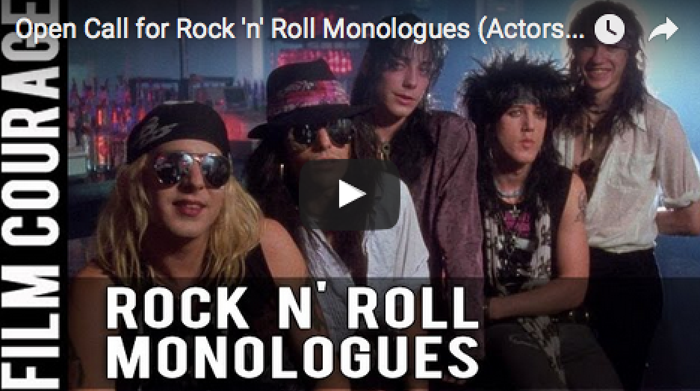 Open Call for Rock 'n' Roll Monologues (Actors) and Book Readers - June 16th in Hollywood, CA_Events_in_los_angeles_heavy_metal_scene_filmcourage