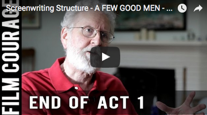 screenwriting structure a few good men end of act 1 by michael watch the video on here