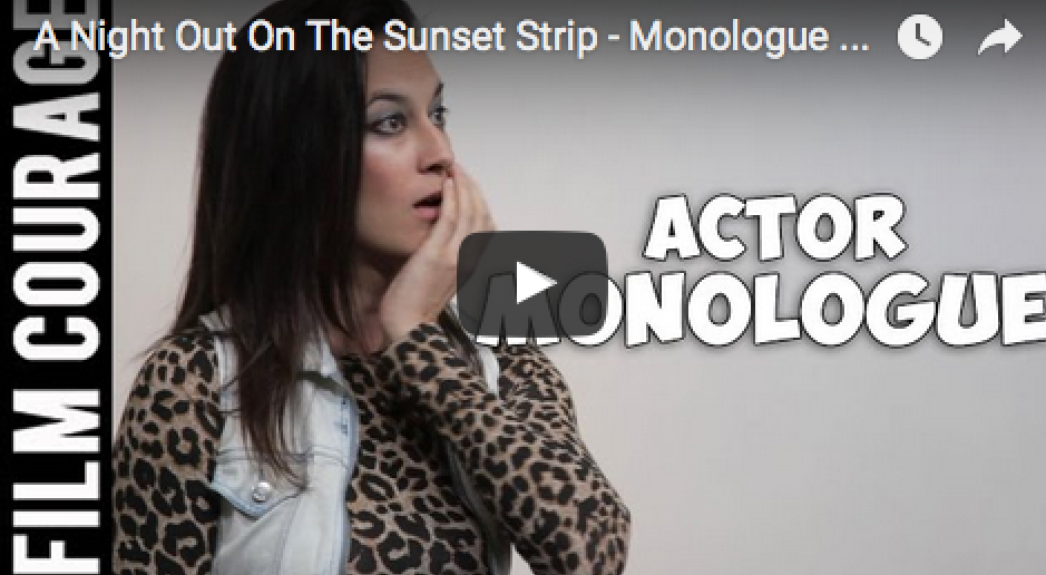 A Night Out On The Sunset Strip - Monologue Performed by Actress Satu Runa_filmcourage_
