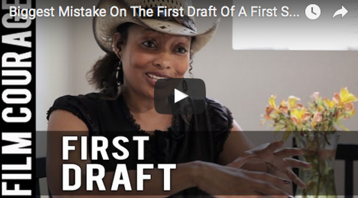 Biggest_Mistake_On_The_First_Draft_Of_A_First_Screenplay_Tamika_Lamison_filmcourage_am_writing_script