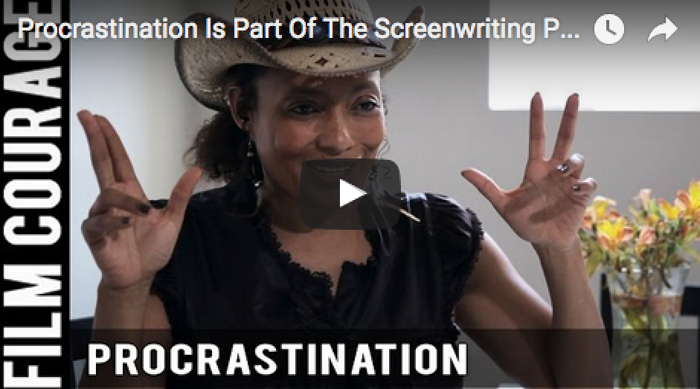 Procrastination_Is_Part_Of_The_Screenwriting_Process_Tamika_Lamison_filmcourage_writing_booktube_writers_women_in_film