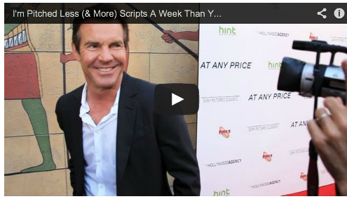I'm Pitched Less (& More) Scripts A Week Than You Think by Dennis Quaid At Any Price Red Carpet Actor Film Courage Ramin Bahrani