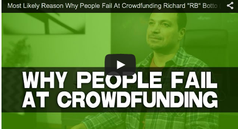 Most Likely Reason Why People Fail At Crowdfunding Richard _RB_ Botto_Stage 32 CEO_indie_film_filmmaking_tips_film_and_television_producer_social_media