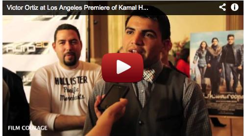 Victor Ortiz at Los Angeles Premiere of Kamal Haasan's VISHWAROOPAM Boxer Bollywood Cinema India