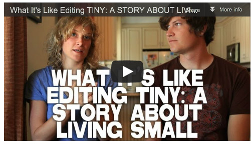 What It's Like Editing TINY- A STORY ABOUT LIVING SMALL by Merete Mueller & Christopher Smith Film Courage