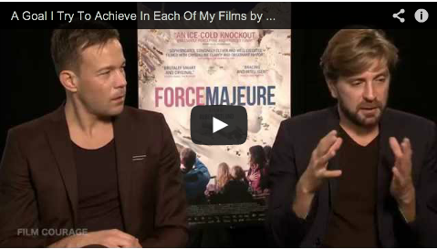 A Goal I Try To Achieve In Each Of My Films by Ruben Östlund_Johannes Bah Kuhnke_Filmcourage_Force_Majeure_Swedish_Filmmaking_Academy_Award_Nominee
