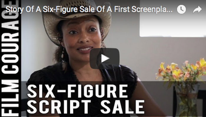 Story Of A Six-Figure Sale Of A First Screenplay by Tamika Lamison_writing_filmcourage_screenwriting
